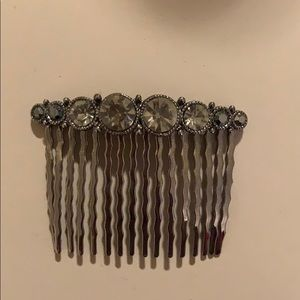 Dark gray hair comb